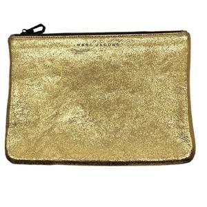 Marc Jacobs Glitter Leather Clutch Gold Wristlet